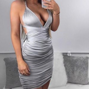 Dresses - Silver Multi-Way Dress